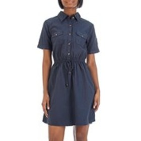 MPH Button-Front Shirt Dress with Tie-Waist