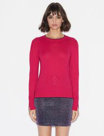Armani PULLOVER WITH CONTRAST EDGES