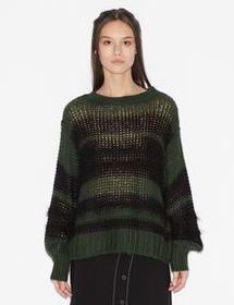 Armani PULLOVER WITH LONG-HAIRED INSERTS