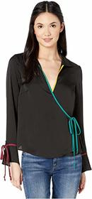 BCBGeneration Surplice Long Sleeve Wrap Top TIR125