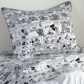 Disney Mickey Mouse Comic Strip Sham by Ethan Alle