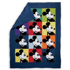 Disney Mickey Mouse Color Block Mickey Quilt by Et