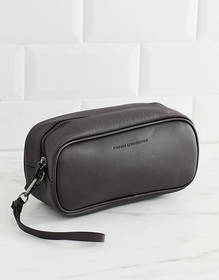 French Connection faux leather toiletry bag