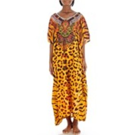 GYPSY BLUE Cheetah Print Caftan