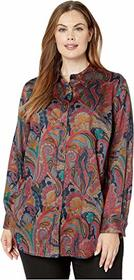 LAUREN Ralph Lauren Plus Size Paisley Button-Down