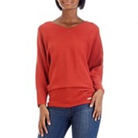 ELLEN TRACY V-Neck Dolman Sleeve Sweater