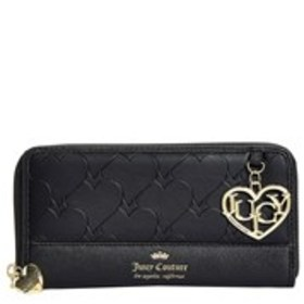 Heart Charm Embossed Zip-Around Wallet