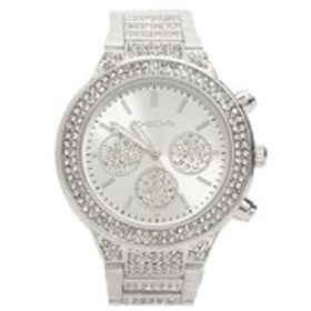 BEBE Womens Crystal Stainless Steel Chronograph Wa