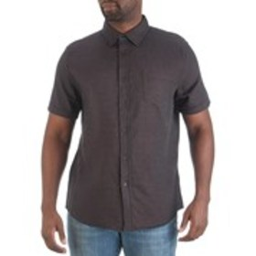 HAGGAR Mens Classic Fit Square Print Short Sleeve
