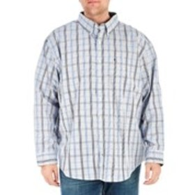 Big & Tall Classic Fit Plaid Long Sleeve Button Do