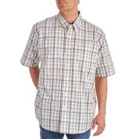 WRANGLER Mens Short Classic Fit Short Sleeve Plaid