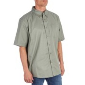 WRANGLER Mens Classic Fit Wrinkle Resistant Button