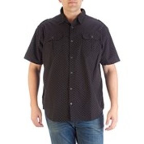 STEVES JEANS Big & Tall Dotted Button Down Shirt