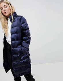 Blend She Longline Sateen Quilted Coat