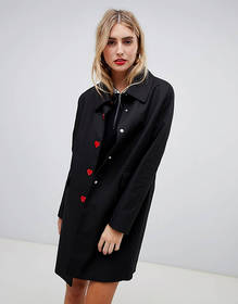 Love Moschino Heart button coat