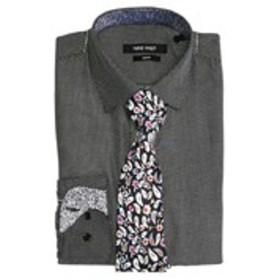NINE WEST Mens Slim Fit Dotted Dress Shirt And Pai