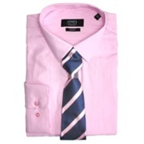 JONES NY SIGNATURE Mens Slim Fit Pink Dress Shirt