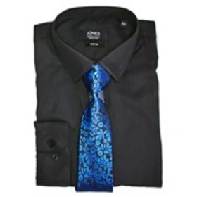 JONES NY SIGNATURE Mens Slim Fit Black Dress Shirt