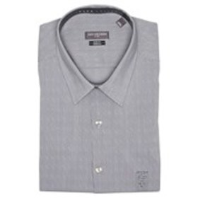 Mens Slim Fit Stretch Grey Long Sleeve Dress Shirt