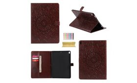 Smart Embossing Leather Stand Case Cover For iPad