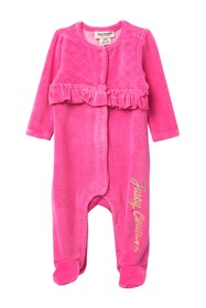 Juicy Couture Dotted Bow Footed Coverall (Baby Gir