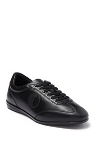 VERSACE COLLECTION Nappa Leather Lace Up Sneaker