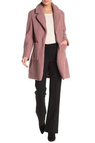 French Connection Faux Shearling Teddy Notch Colla