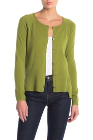 Knyt & Lynk Cashmere Button Front High/Low Cardiga