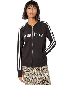 Bebe Sport Varsity Bomber with Stripe