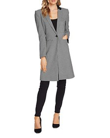 VINCE CAMUTO - Houndstooth Notch-Collar Coat