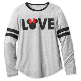 Disney Minnie Mouse Long Sleeve T-Shirt for Women