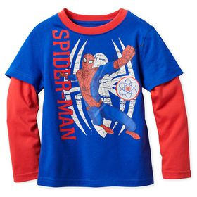 Disney Spider-Man Long Sleeve Layered T-Shirt for