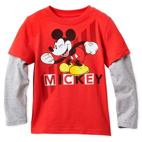 Disney Mickey Mouse Long Sleeve Layered T-Shirt fo
