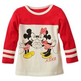 Disney Mickey and Minnie Mouse Long Sleeve T-Shirt