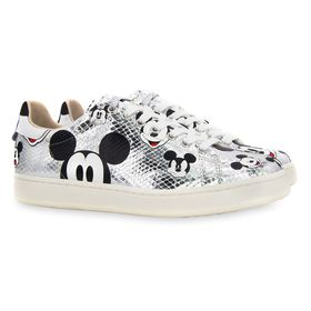 Disney Mickey Mouse Silver Sneakers for Women by M