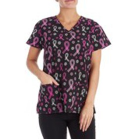 DIVINE Printed Stretch Scrub Top