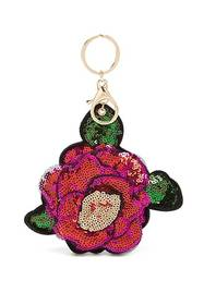 Forever21 Puffy Rose Sequin Keychain