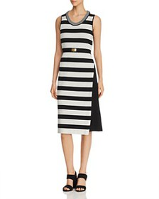 Tory Burch - Belted Color-Block Dress