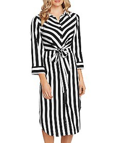 VINCE CAMUTO - Striped Shirt Dress