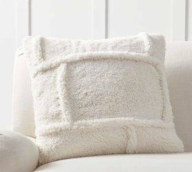 Pottery Barn Patchwork Sherpa Pillow Cover