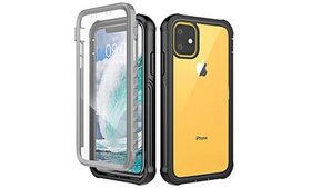 Built-In Screen Protector Clear Full Case for iPho