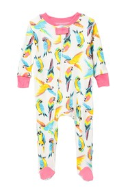 Rosie Pope Parrot Footed Coveralls (Baby Boys)