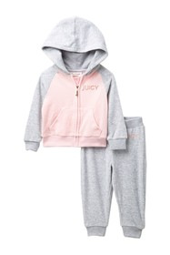 Juicy Couture Velour Hoodie & Pants Set (Baby Girl