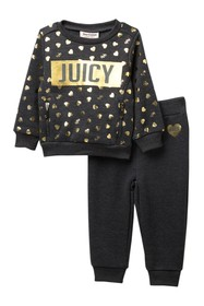 Juicy Couture Heart Fleece Top & Bottom Set (Baby