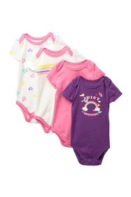 Juicy Couture Print Bodysuits - Pack of 4 (Baby Gi