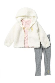 Juicy Couture 3-Piece Faux Fur Sweater Set (Toddle
