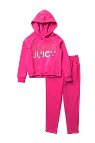 Juicy Couture Hooded Pullover Set (Big Girls)