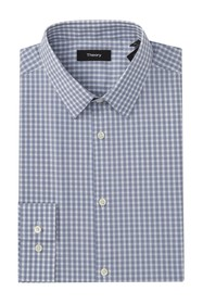 Theory Cedrick Check Print Shirt