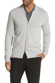 Theory Lievos Breach Melange Zip Cardigan