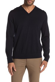 Theory Riland Leden Luxe V-Neck Sweater